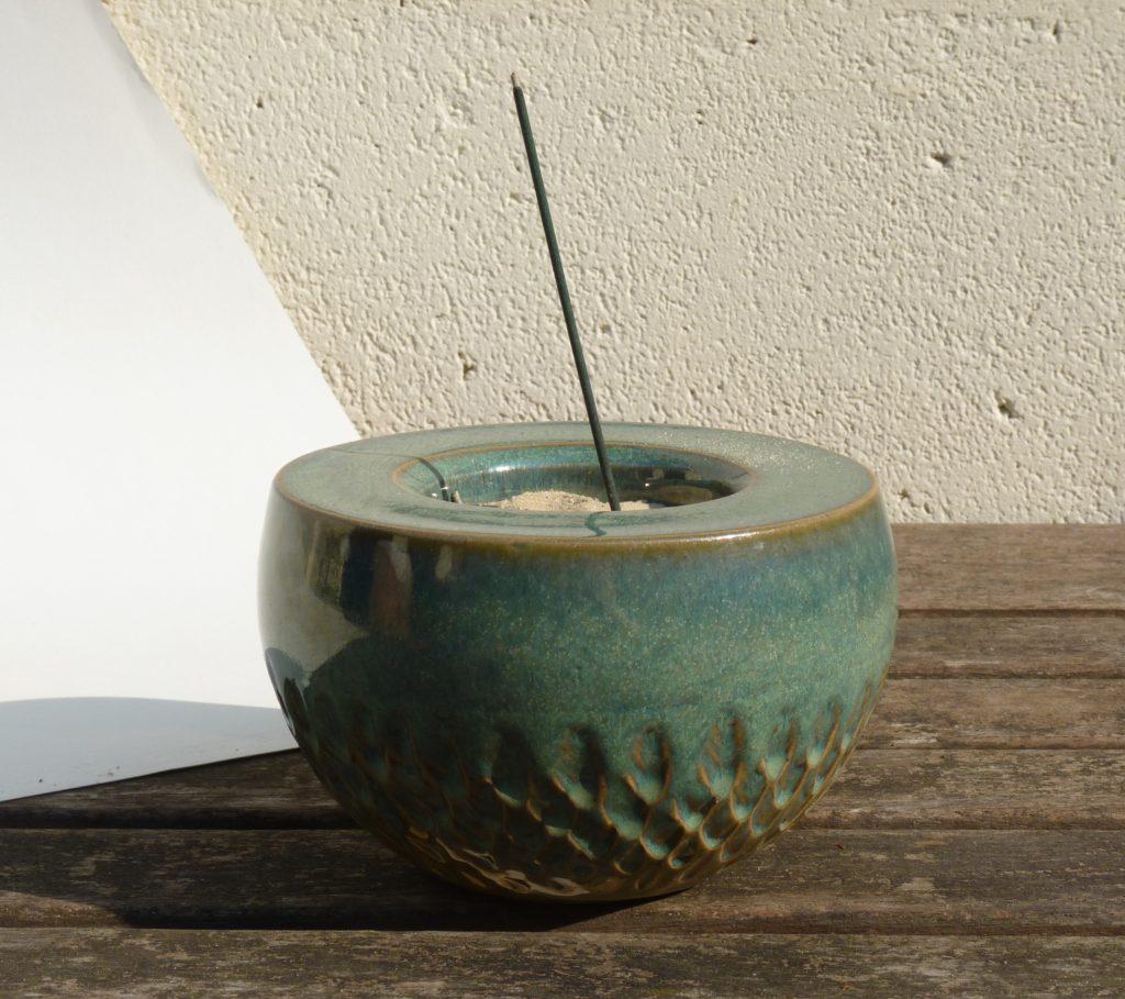 Grès émaillé turquoise, 12 x 8 cm
