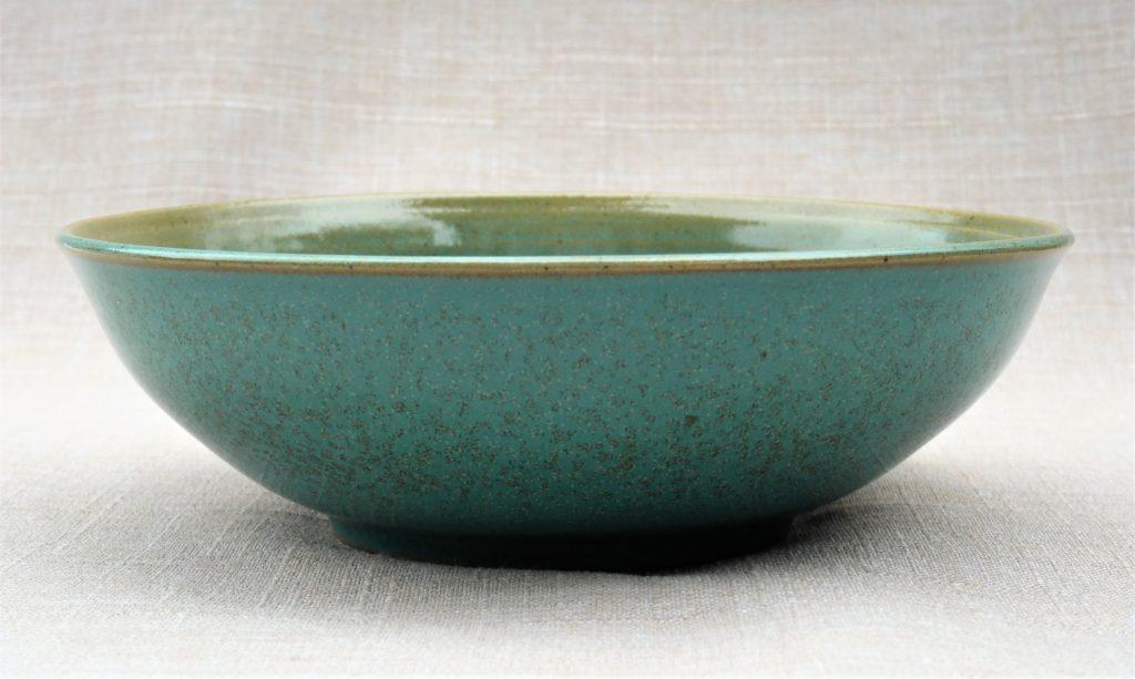 Grès émaillé turquoise, 19 x 6 cm
